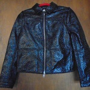 Tory Burch Faux Leather Reversible Jacket Vest S/P